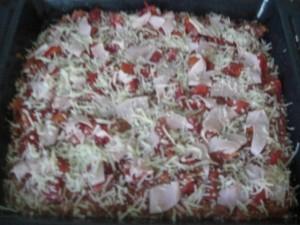 Belag Hackfleischpizza